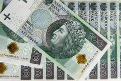 Billet de banque 100 PLN Images libres de droits
