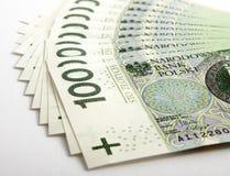 Billet de banque 100 PLN Image stock