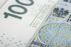 Billet de banque 100 PLN Photographie stock libre de droits