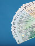 Billet de banque polonais d'argent Image libre de droits