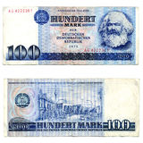billet de banque RDA Photographie stock libre de droits