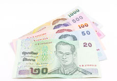 Billet de banque thaï de devise Images libres de droits