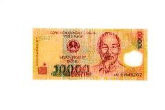 Billet de banque vietnamien de coup de la devise 10.000 Photos libres de droits