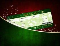 Billet de carte d'embarquement de ligne aérienne de Noël dans la poche illustration de vecteur
