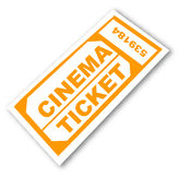 Billet de cinéma Photos stock