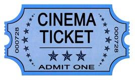 Billet de cinéma sur le blanc Photo stock