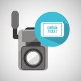 Billet de cinéma de caméra vidéo de film Photographie stock