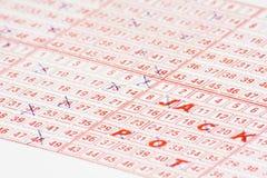 Billet de loterie Photo stock