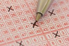 Billet de loterie Photos stock