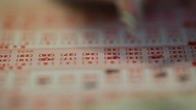 Billet de loterie banque de vidéos