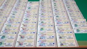 Billet de loterie thaïlandais Photographie stock libre de droits