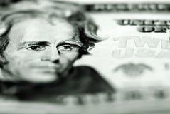 Billet de vingt dollars argent comptant Photo libre de droits