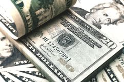 Billet de vingt dollars 3d rendent sur le blanc avec le chemin de coupure Illustration Stock