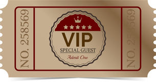 Billet de VIP Images stock