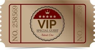 Billet de VIP Images stock