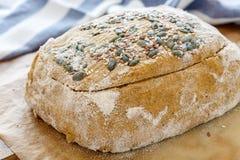 Billet dough for baking pumpkin bread. Stock Photo