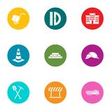 Billet icons set, flat style. Billet icons set. Flat set of 9 billet vector icons for web isolated on white background vector illustration