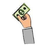 Billet money cash. Icon illustration graphic design royalty free illustration