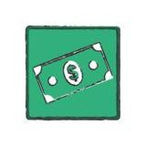 Billet money cash. Icon illustration graphic design icon illustration graphic royalty free illustration