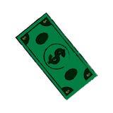 Billet of money. Icon illustration graphic design stock illustration