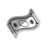 Billet of money. Icon illustration graphic design royalty free illustration