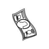 Billet of money. Illustration graphic design royalty free illustration