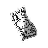 Billet of money. Illustration graphic design stock illustration