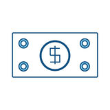 Billet money symbol Stock Photography