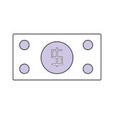 Billet money symbol. Icon vector illustration graphic design stock illustration