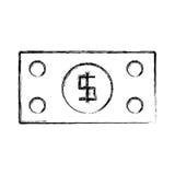 Billet money symbol. Icon vector illustration graphic design royalty free illustration
