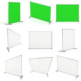 Billet press wall with green screen banner. Royalty Free Stock Photo