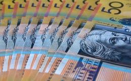 Billete de banco australiano Imágenes de archivo libres de regalías