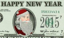 Billete de banco con Santa Claus Fotos de archivo