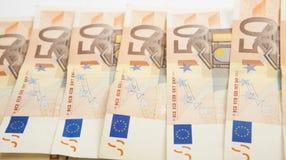 billete de banco de 50 euros Fotos de archivo libres de regalías