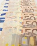 billete de banco de 50 euros Imagenes de archivo