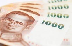 billete de banco de 1000 baht Imagen de archivo libre de regalías