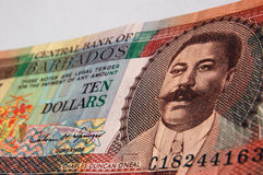 Billete de banco de Charles Duncan O'Neal Barbados Fotografía de archivo libre de regalías