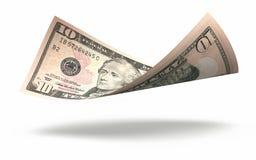 Billete de banco de diez dólares Foto de archivo libre de regalías
