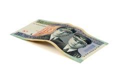 Billete de banco de diez litas Imágenes de archivo libres de regalías