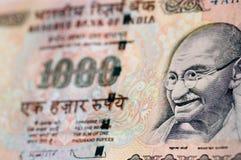 Billete de banco de Gandhi de la India Fotografía de archivo libre de regalías