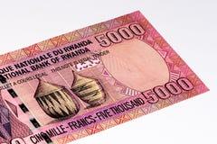 Billete de banco de la moneda de África Imagen de archivo