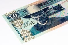 Billete de banco de la moneda de África Foto de archivo