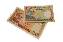 Billete de banco de la moneda de Bangladesh del taka Fotos de archivo