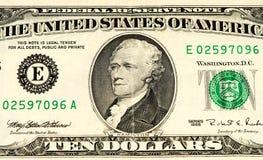 Billete de banco de la moneda de los E.E.U.U. Fotografía de archivo