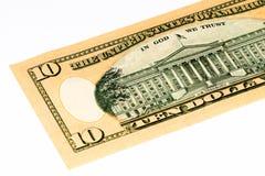 Billete de banco de la moneda de los E.E.U.U. Fotos de archivo libres de regalías