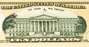 Billete de banco de la moneda de los E.E.U.U. Fotografía de archivo libre de regalías