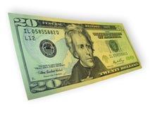 Billete de banco de veinte dólares Imagen de archivo