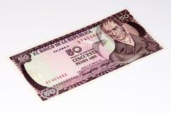 Billete de banco del currancy de Suramérica Imagen de archivo