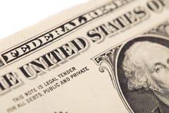 Billete de banco del dólar Foto de archivo