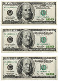 Billete de banco del dólar Fotos de archivo libres de regalías